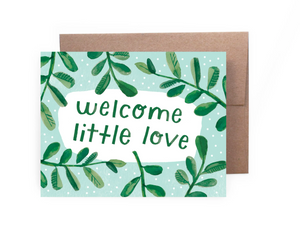 Welcome Little Love Card