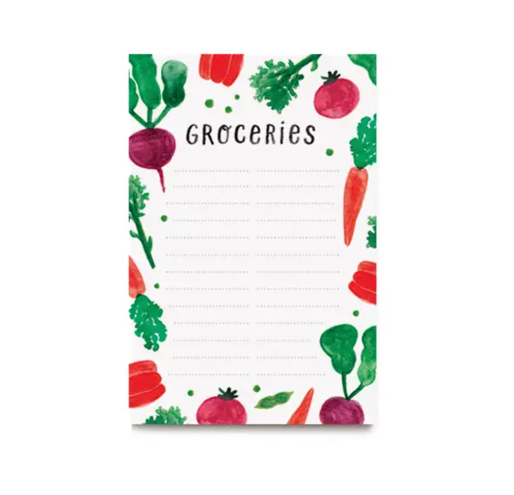 Veggie Grocery Notepad