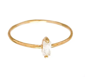 Gold Crystal Ring size 7
