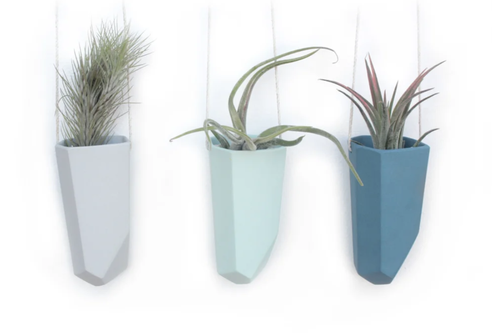 Skinny Crystal Ceramic Air Plant Hanger