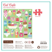 Load image into Gallery viewer, Cat Cafe Puzzle - 500 piece