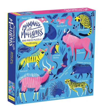 Mammals with Mohawks Puzzle - 500 piece