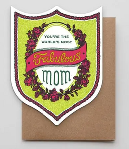 Fabulous Mom Badge Card
