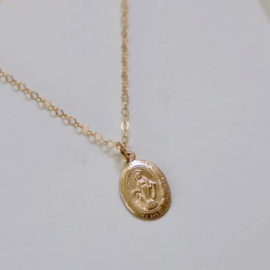 PETITE VIRGIN MARY NECKLACE