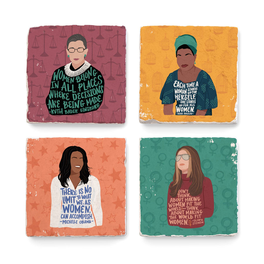 Feminist Women Illustration - Coaster Set