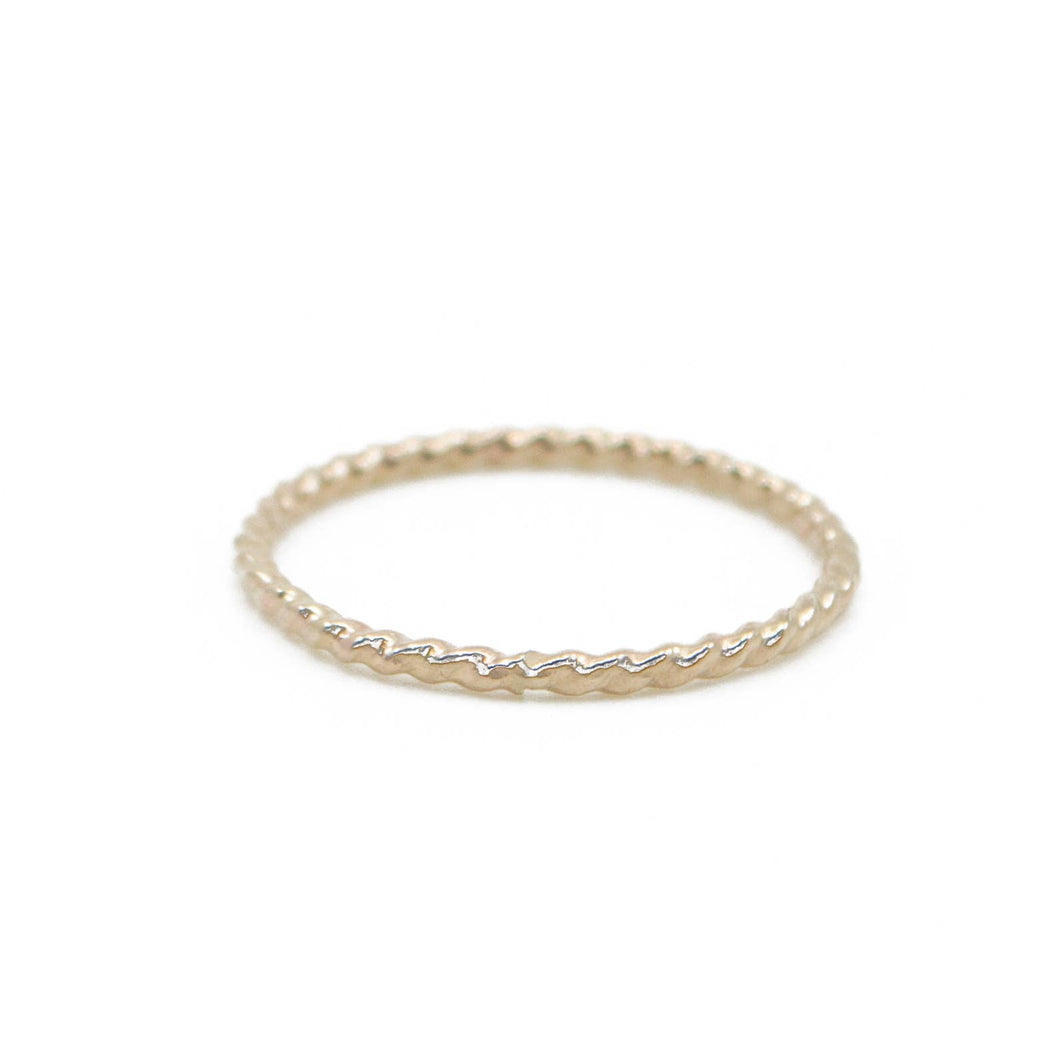 Twist Stacking Ring in Gold | 4