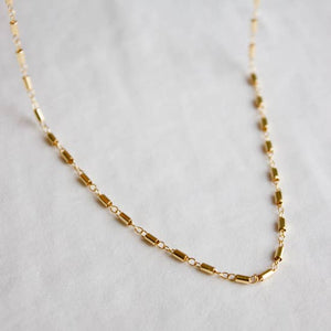 Gold Filled Tube Link Simple Chain