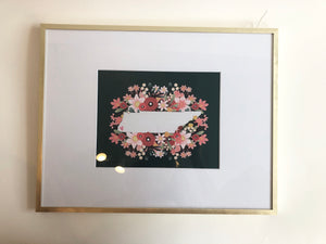 Jesi Lee framed TN print - dark green