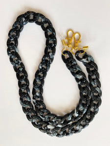 mask / glasses chain - large acrylic curb chain