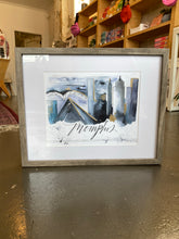 Load image into Gallery viewer, Whitney Winkler 8x10 memphis print framed - grey