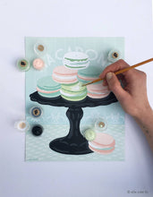 Load image into Gallery viewer, Macarons on Pedestal Paint-by-Number Kit