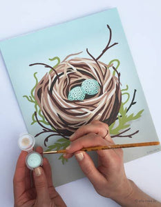 Bird's Nest Paint-by-Number Kit
