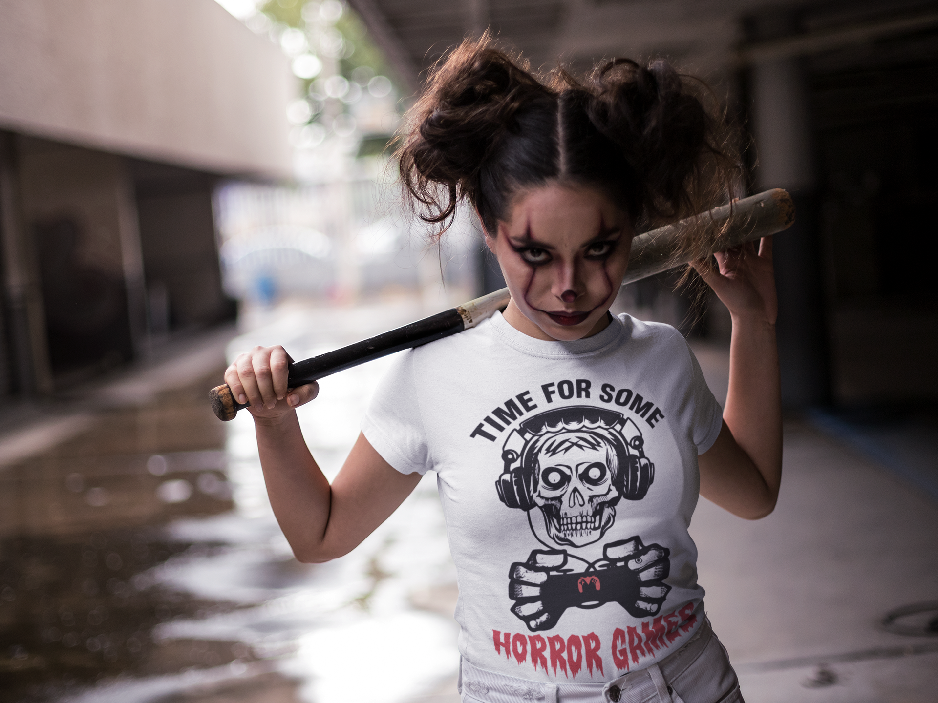 Horror Gaming Damen Shirt