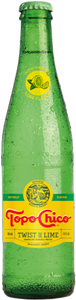 24 PACK - CARBONATED NATURAL MINERAL WATER WITH NATURAL LIME FLAVOR - 12 FL OZ (355ML) (GLASS)