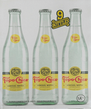 9 PACK - CARBONATED NATURAL MINERAL WATER - 12 FL OZ (355ML) (GLASS BOTTLES)