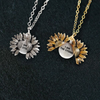 "Image of ""I AM THE STORM""- SUNFLOWER NECKLACE + FREE GIFT BOX"
