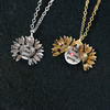 "Image of ""KEEP F GOING""- SUNFLOWER NECKLACE + FREE GIFT BOX"