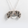 "Image of ""I AM ENOUGH ""- SUNFLOWER NECKLACE + FREE GIFT BOX"