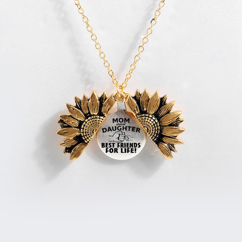 """BEST FRIENDS FOR LIFE ""- SUNFLOWER NECKLACE + FREE GIFT BOX"