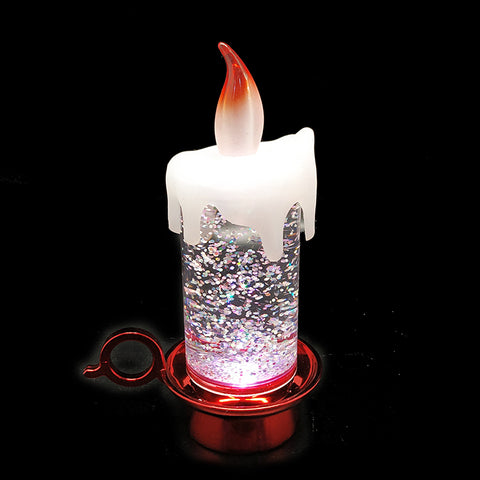 Colour Changing LED Water Candle With Glitter 2