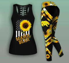 Mama Bear Combo Sunflower Tank Top And Legging 4