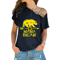 MAMA BEAR Cross Shoulder T-shirt