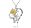 Image of SUNFLOWER NECKLACE 925 STERLING SILVER