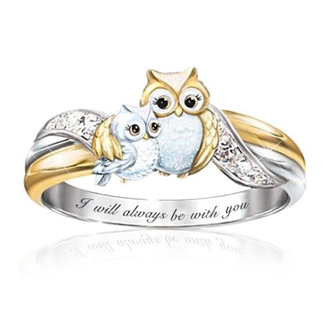 🔥HOT SALE🔥Cute Owl Crystal Ring【Lowest Price】
