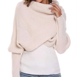 CROCHET SWEATER-SCARF WITH SLEEVES(BUY 2 GET FREE SHIPPING)