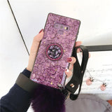 2019 New Style Luxury Hair Ball Diamond Airbag Bracket Phone Case For Samsung