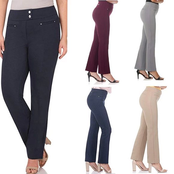 Women's Secret Figure Pull-On Knit Straight Pant (BUY 3 GET FREE SHIPPING)