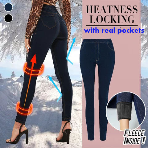 BLACK FRIDAY SALES-Women's Denim Leggings Jeans With Pockets (buy 3 get free shipping)