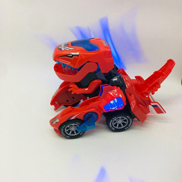 Children's educational electric deformation dinosaur chariot with light voice HG-788 deformation dinosaur children electric toy
