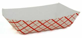 Tray Paper Red/White #40  6oz