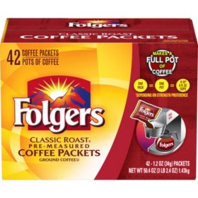 Coffee Folgers Reg Ultra Roast Pouch  42ct