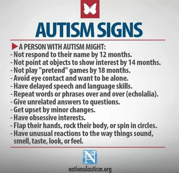Autism Signs by NationalAutism.org