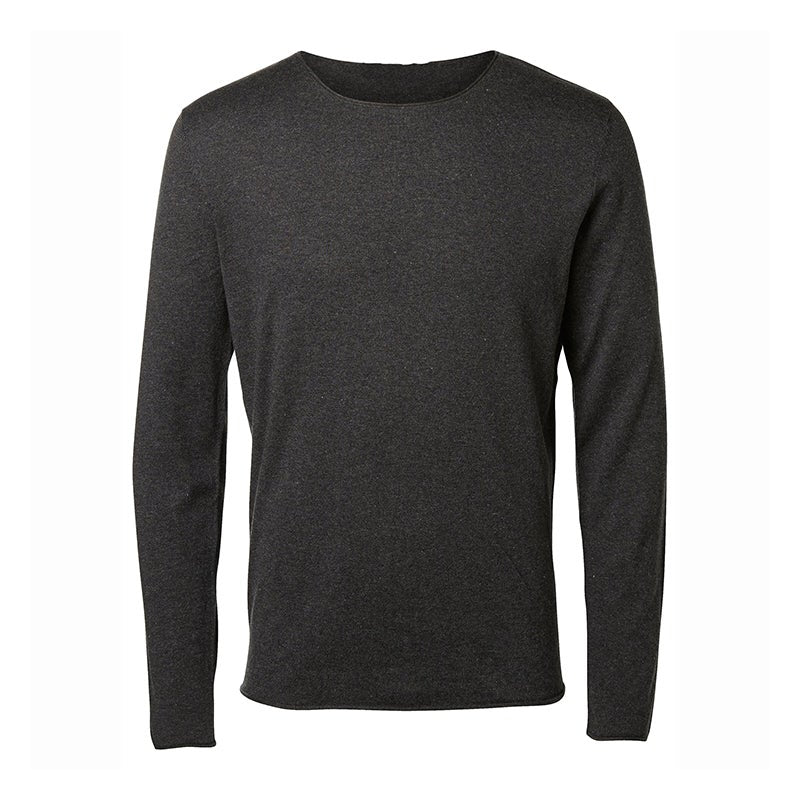 The Slim Fit Long Sleeve Raw Edge T-Shirt - Up to size XXL!