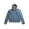 The Hooded Denim Jacket - Up to XXXL!