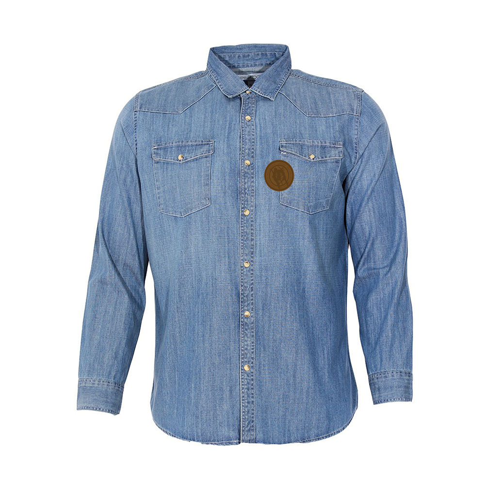 The Runaway Wolf Denim Shirt - Up to 4XL