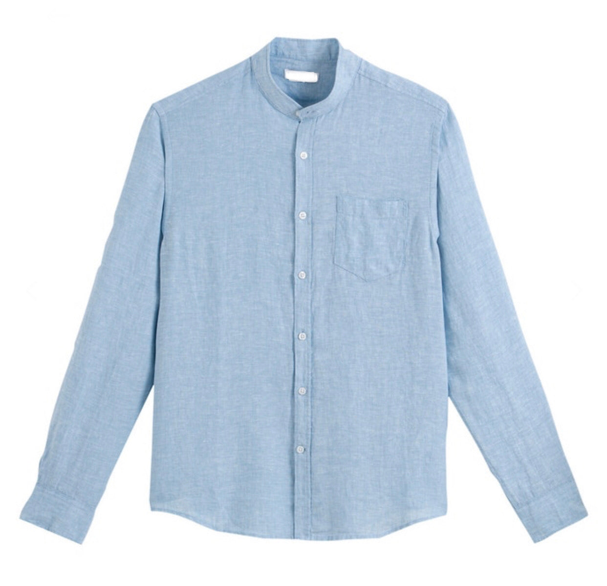 The Summer Linen Mandarin Shirt - Up to Size XXXL