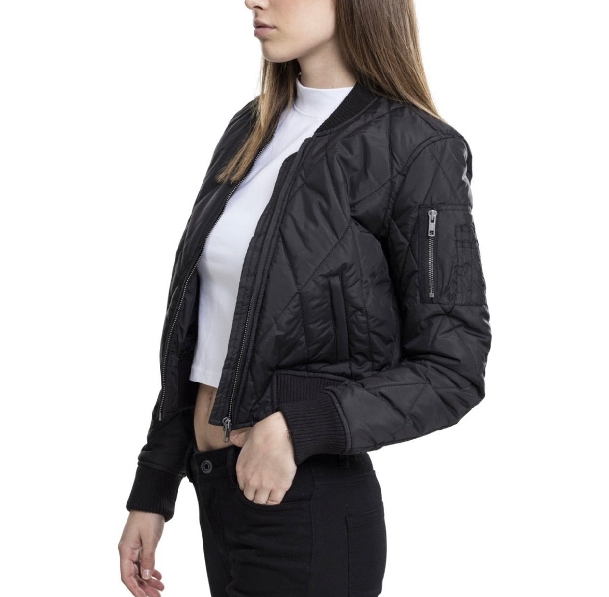 The Women's Quilted Bomber Jacket - Up to Size XXL