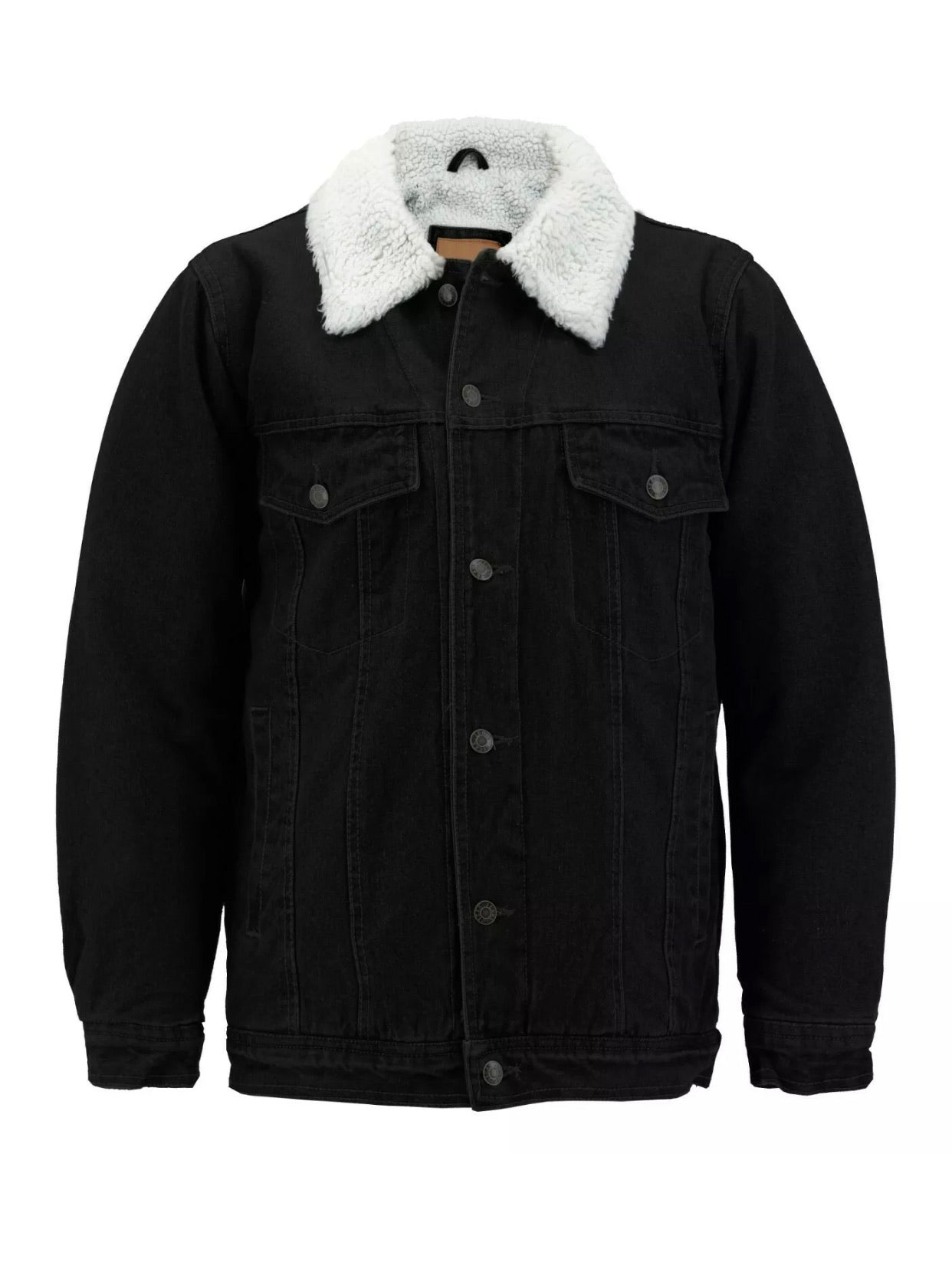 The Sherpa Denim Jacket - Up to Size 4XL