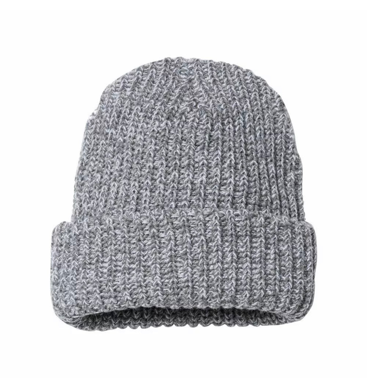 The Heather Grey Chunky Beanie - Extra Thick!