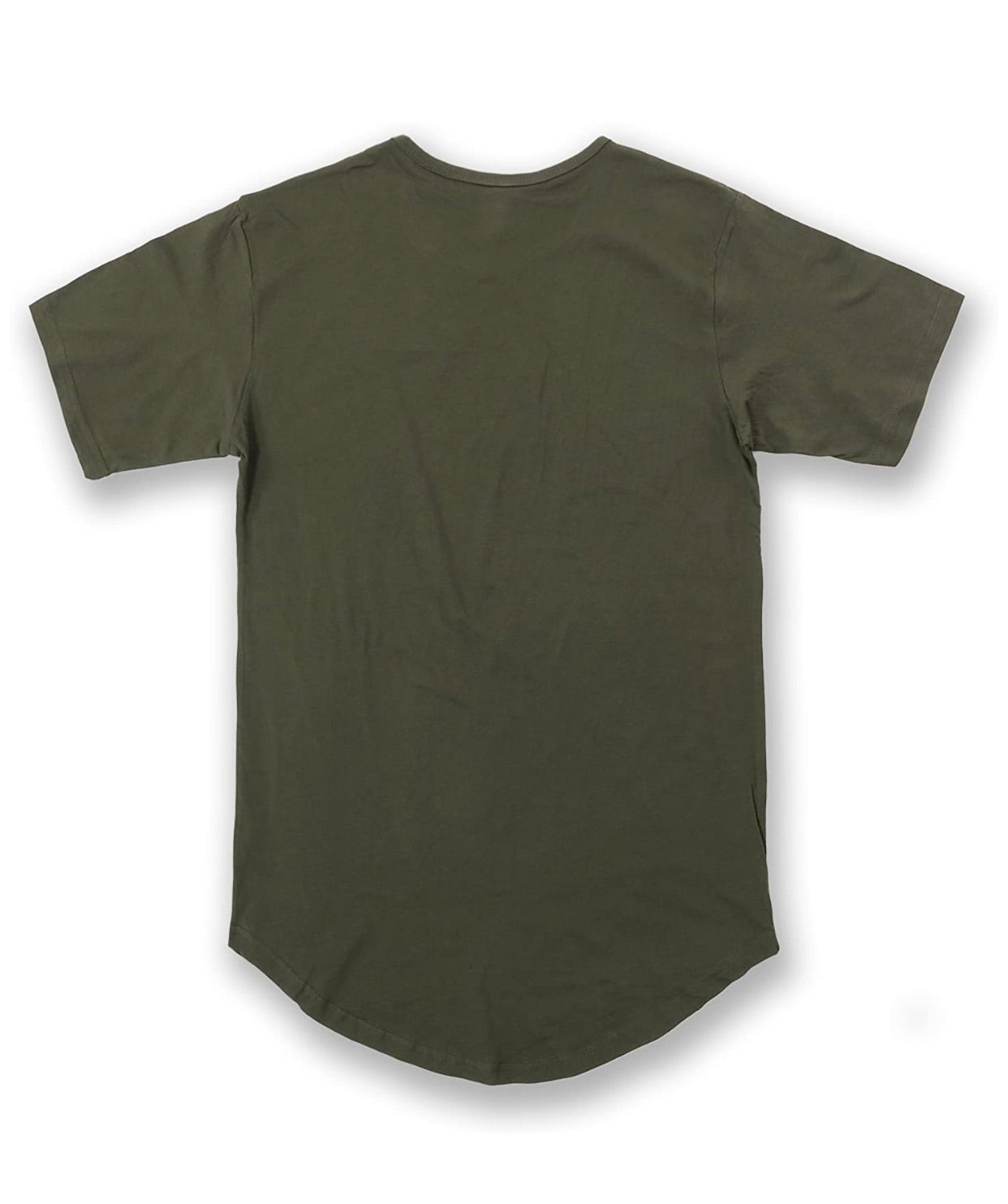 The Raw Edge Curved Hem S/S Tee - Up to Size 5XL