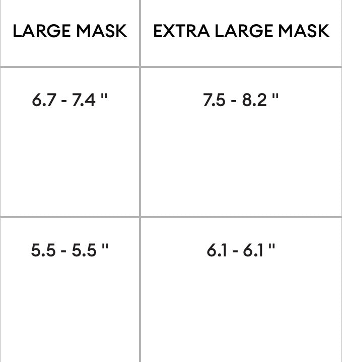 The DvG Quilted FaceMask - Standard Face Size, XL Size also available