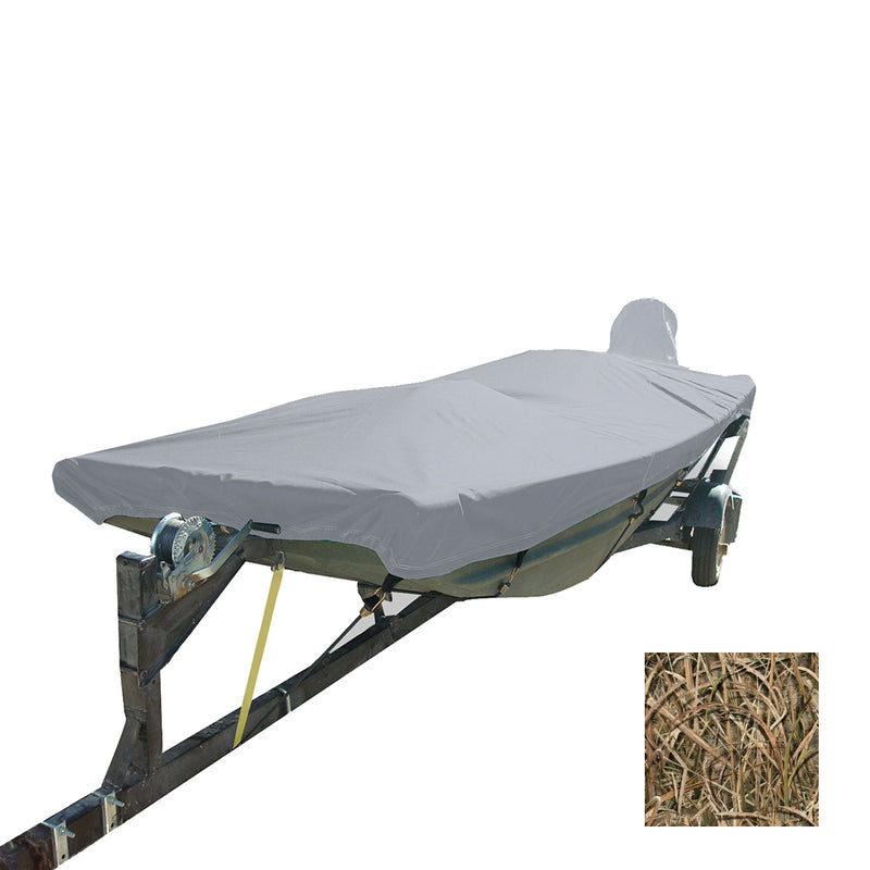 Carver Performance Poly-Guard Styled-to-Fit Boat Cover f/12.5 Open Jon Boats - Shadow Grass [74200C-SG]
