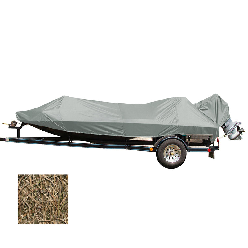 Carver Performance Poly-Guard Styled-to-Fit Boat Cover f/18.5 Jon Style Bass Boats - Shadow Grass [77818C-SG]