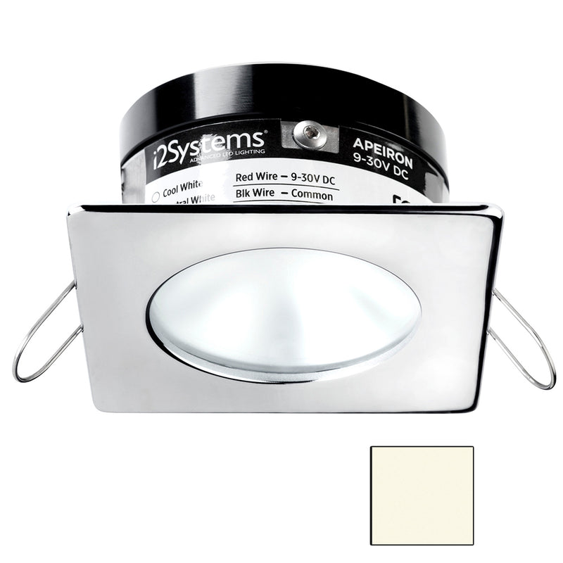 i2Systems Apeiron A503 3W Spring Mount Light - Square/Round - Neutral White - Polished Chrome Finish [A503-12BBD]