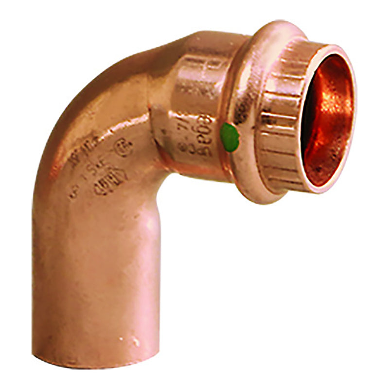 "Viega ProPress 3/4"" - 90 Copper Elbow - Street/Press Connection - Smart Connect Technology [77052]"