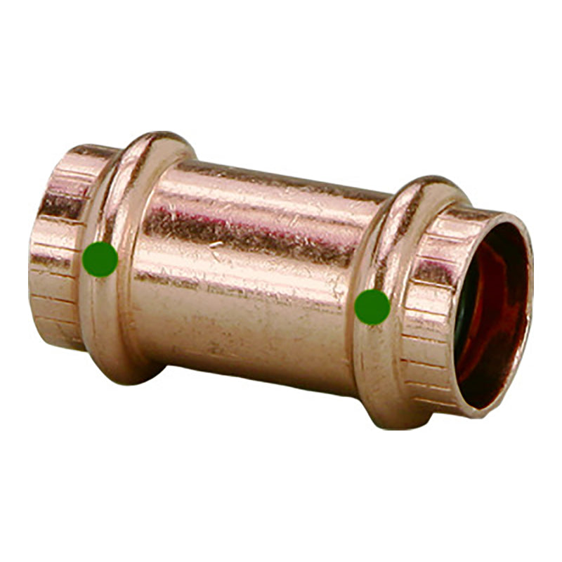 "Viega ProPress 1"" Copper Coupling w/o Stop - Double Press Connection - Smart Connect Technology [78182]"